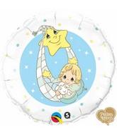 """18"""" Precious Moments – Baby Blue Balloon"""