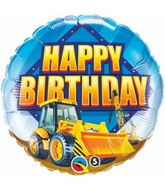"18"" Birthday Construction Zone Mylar Balloon"