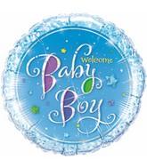 "9"" Airfill Blue Baby Boy Stars"