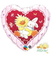 "18"" Witzy & Lulla In Love Mylar Balloon"