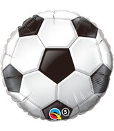 "18"" Soccer Ball Packaged Mylar Balloon"