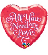 "18"" All You Need is Love Red Balloon"