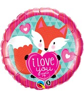 "18"" Love You Foxy Heart Balloon"