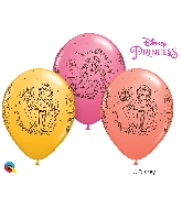 """11"""" Assorted 25 Count Disney Princess Belle Latex Balloons"""