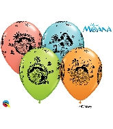 "11"" Assorted 25 Count Disney Moana & Maui Latex Balloons"