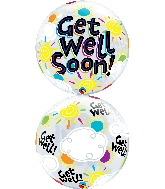 "22"" Single Bubble Get Well Soon Sunny Day"