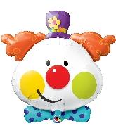 """36"""" Shape Cute Clown Foil Balloon"""