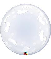 """24"""" Deco Bubble Baby Footprints"""