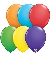 "5"" Bright Rainbow 100 Count Qualatex Latex Balloons"