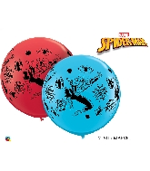 """36"""" Spiderman Balloons Red and Robin's Egg Blue"""