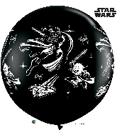 "36"" Black 02 Count Star Wars: Darth Vader Latex Balloons"