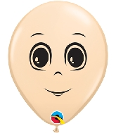 "5"" Blush 100 Count Masculine Face Latex Balloons"