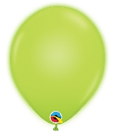 "10"" Q-Lite Green 5 Count Qualatex Light Up Latex Balloons"