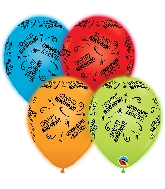 "10"" Q-Lite Special Assorted 4 Count Birthday Latex Balloons"