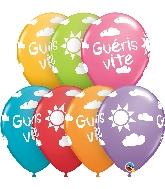 "11"" Festive 50CT Gueris Vite Ensoleille Latex Balloons"