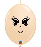 "12"" Quick Link Blush 50 Count Feminine Face Latex Balloons"