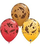 """11"""" Acorns & Leaves Latex Balloon"""