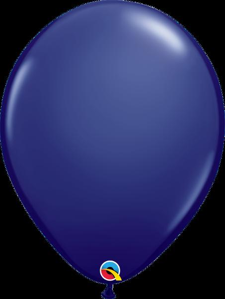 "16"" Qualatex Latex Balloons  Navy 50CT"