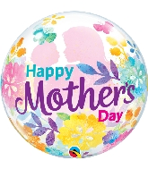 "22"" Mother's Day Silhouette Bubble Balloon"