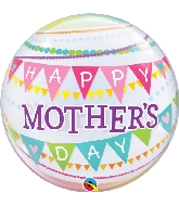 "22"" Mother's Day Pennants Bubble Balloon"