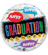 "22"" Happy Graduation - Congrats Grad Bubble Balloon"