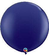 "36"" Qualatex Latex Balloons (2 Pack)  Navy"
