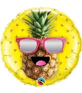 "18"" Mr. Cool Pineapple Foil Balloon"