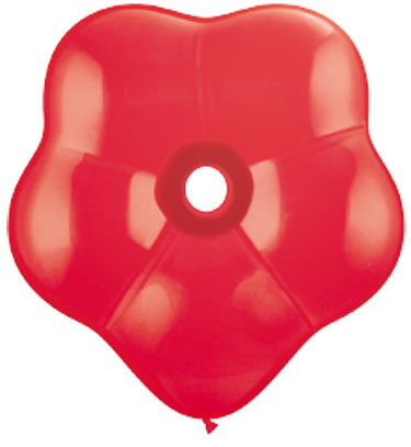"""6"""" Geo Blossom Latex Balloons  (50 Count) Red"""