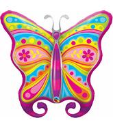 """40"""" Paisley Butterfly Jumbo Mylar Balloon"""