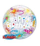 "22"" Single Bubble Birthday Lit Candles"
