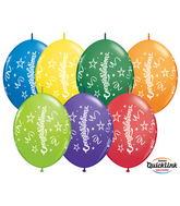 "12"" Quicklink Carnival Assorted 50 Count Congratulations"