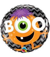 "18"" Boo Monsters Chevron Balloon"
