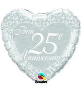 18 Bon 25e anniversaire – Coeurs ballon (emballé)