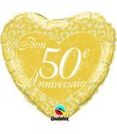 18 Bon 50e anniversaire – Coeurs ballon (emballé)
