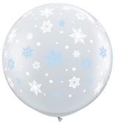 "36"" Winter Snowflakes Latex Balloons"