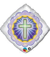 """18"""" Diamond Illuminated Cross"""