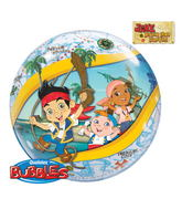 "22"" Jake and Nverland Pirates Bubble Balloons"