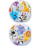 "22"" Party Animals Plastic Bubble Balloons"