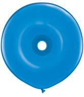 "16"" Geo Donut Latex Balloons (25 Count) Dark Blue"