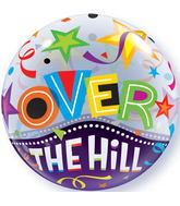 "22"" Over The Hill Stars Plastic Bubble Balloons"