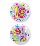 "22"" 18 Brilliant Stars Plastic Bubble Balloons"