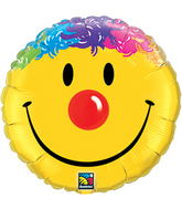 "36"" Smile Face Packaged Mylar Balloon"