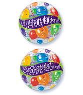 "22"" Congratulations Balloons Plastic Bubble Balloons"