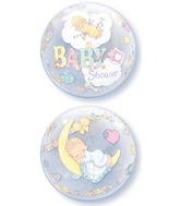 """22"""" Precious Moments Baby Shower Bubble Balloons"""