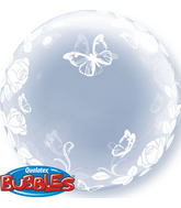 """24"""" Deco Bubble – Elegant Roses & Butterflies"""