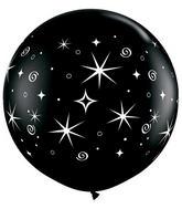 "36"" Sparkles & Swirls Onyx Black (2 ct.)"