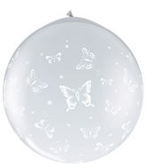 "36"" Butterflies-A-Round Diamond Clear (2 ct.) (Neck-up)"