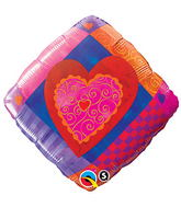 """18"""" Heart Accent Patterns"""