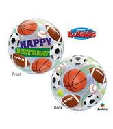 "22"" Birthday Sport Balls Plastic Bubble Balloons"