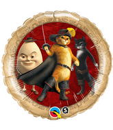 """18"""" Puss In Boots & Friends Licensed Mylar Balloon"""